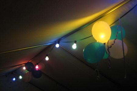 Die Beleuchtung kam am dunklen Abend sehr schön zur Geltung