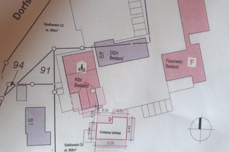 Lageplan Kindergartenpavillons