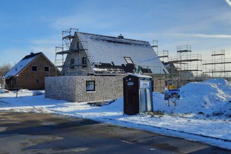 Unser Neubaugebiet Storchenweg erlebt seinen ersten Schnee