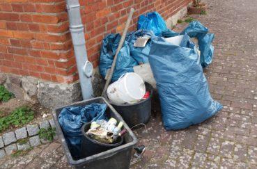 Der Größere Teil Des Eingesammelten Mülls